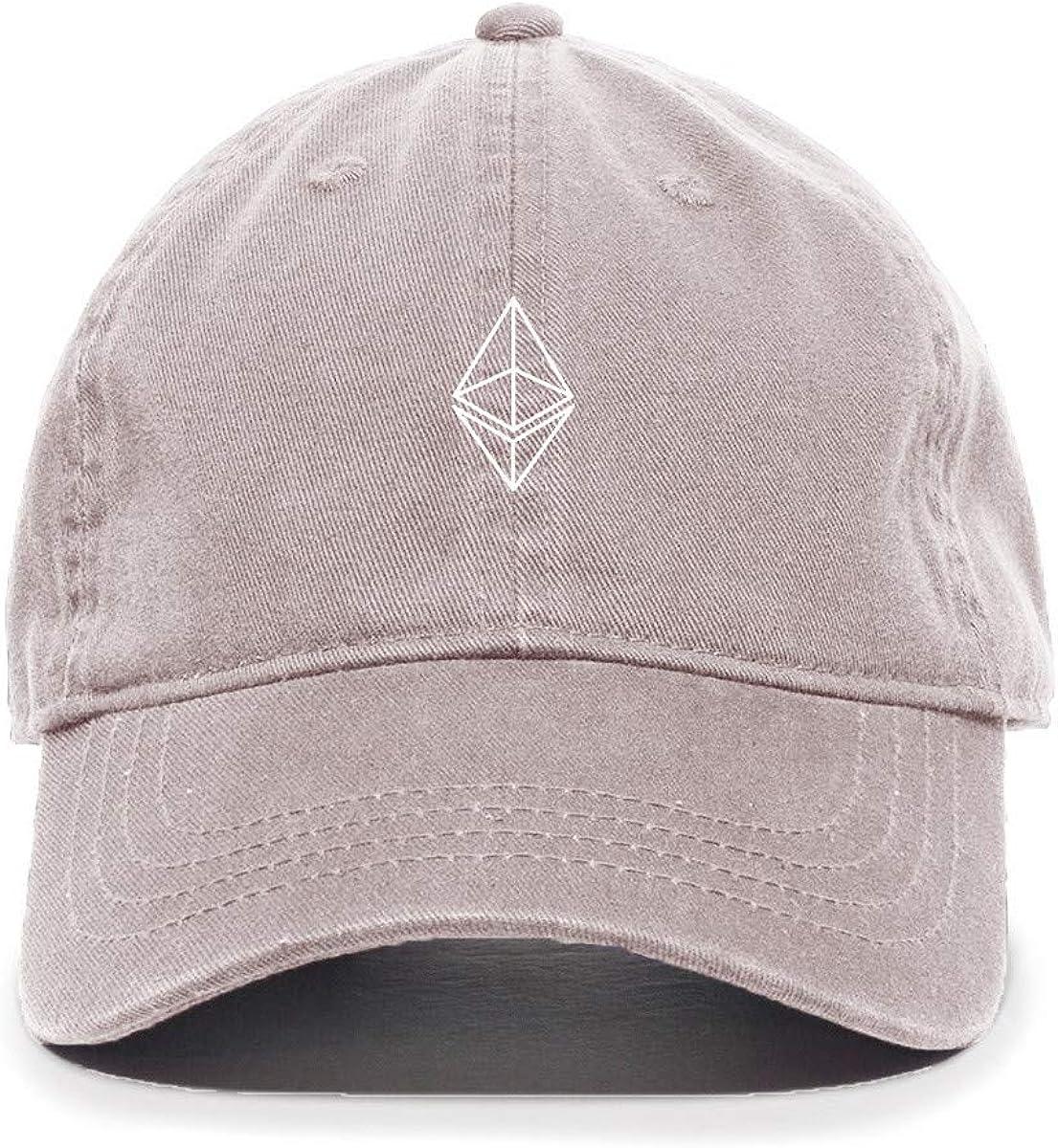 Tech Design San Francisco Mall Regular dealer Ethereum Cryptocurrency Baseball Embroidered Cot Cap