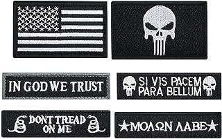 Bundle 6 Pieces Tactical Military Morale Patch Set (Black)