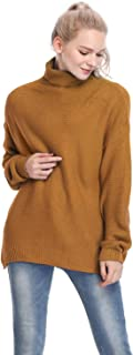 Mia Pristine Womens Casual Long Sleeves Turtleneck Knit Pullover Jumper Sweater