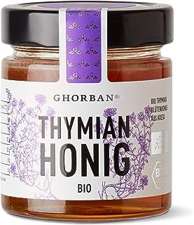 GHORBAN Bio Thymianhonig aus Griechenland - original griechischer Blütenhonig von der Insel Kreta, kaltgeschleudert, ohne Zusatzstoffe & 100% sortenreiner Honig, echte griechische Spezialität