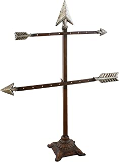 Solid Metal Arrow Jewelry Tree Display Stand/Decor Piece - Rustic Finish