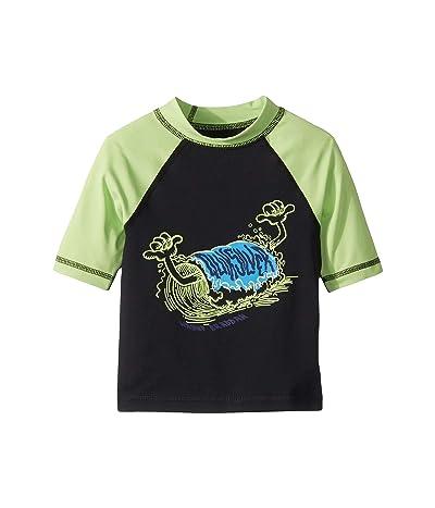 Quiksilver Kids Bubble Dreams Short Sleeve Rashguard (Toddler/Little Kids) (Jade Lme) Boy