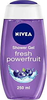 NIVEA Shower Gel, Power Fruit Fresh Body Wash, 250ml