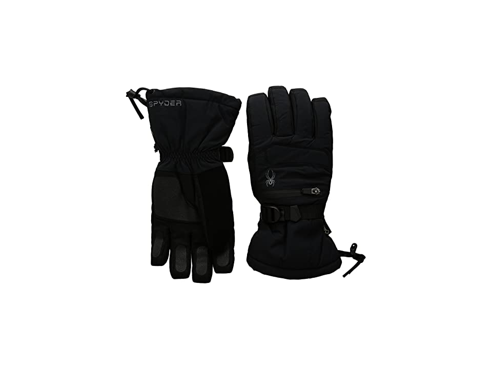 Spyder Eiger Gore-Tex(r) Ski Gloves (Black/Black) Ski Gloves