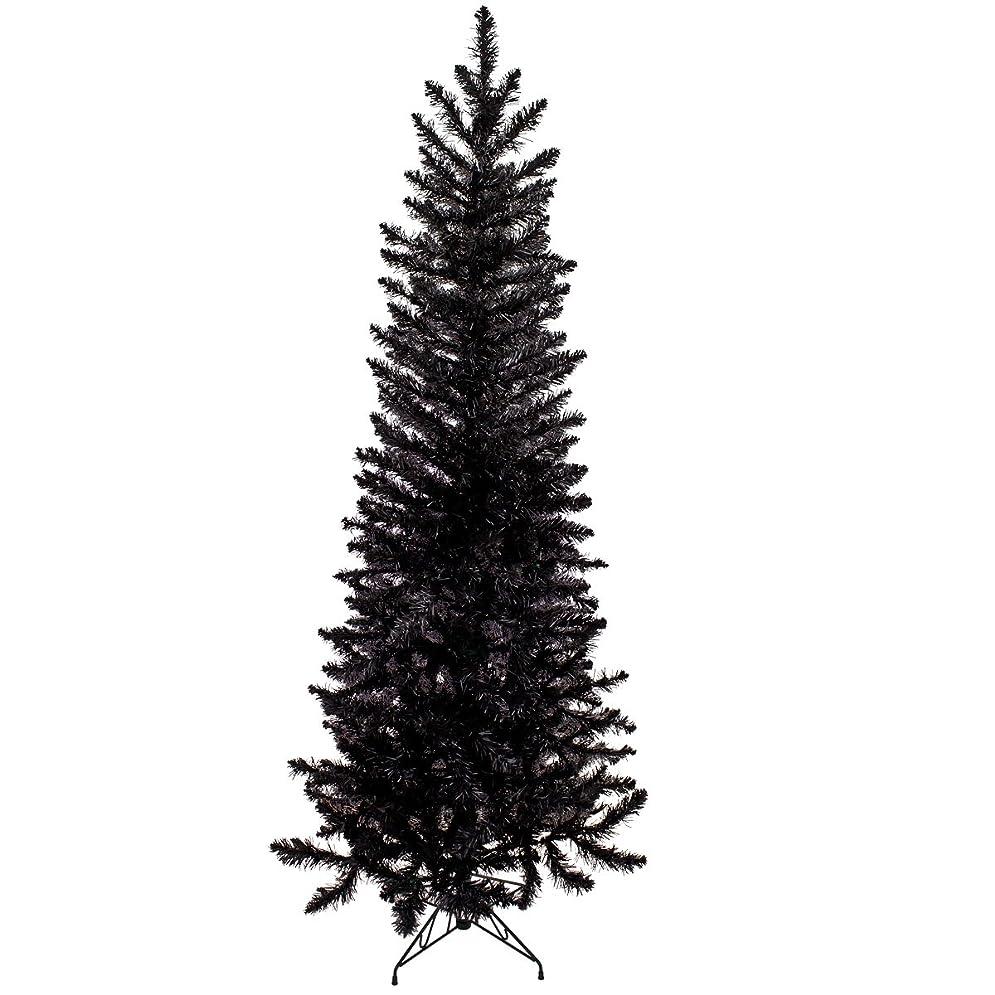 確認する無駄にできたクリスマス屋 クリスマスツリー ブラック スリム 150cm ブラックツリー ヌードツリー
