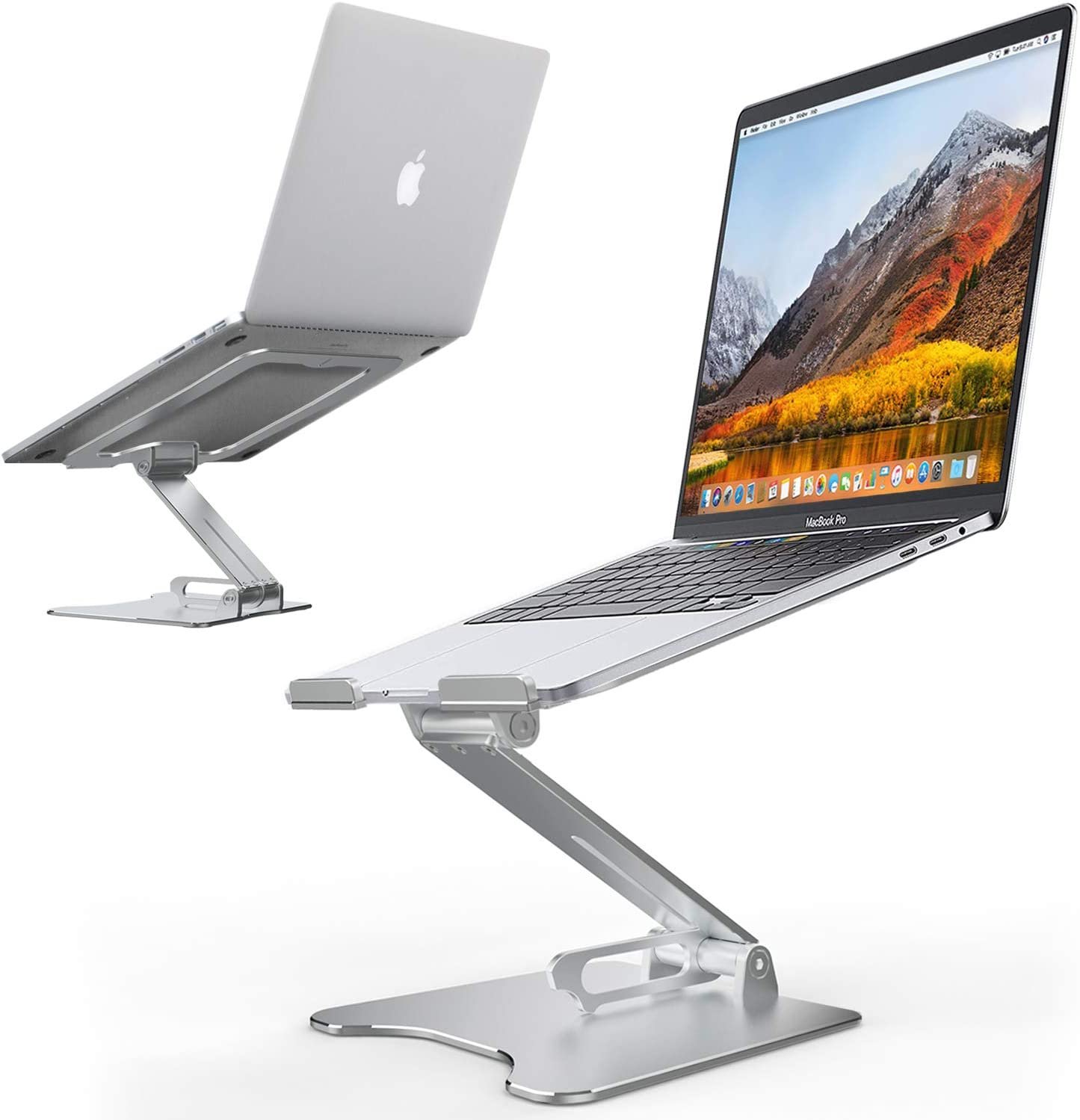 Soporte para ordenador portátil, ergonómico, plegable, de aluminio, multiángulo y altura ajustable, con gran ventilación de calor, compatible con MacBook Pro, Dell, HP, más portátiles de 8 a 15,6