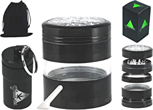 Fine Herb Grinder Kit: 4 Pieces, 3.25 inches Tall, 2.5
