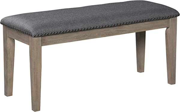 Signature Design By Ashley D617 00 Aldwin Dining Room Bench Dark Gray