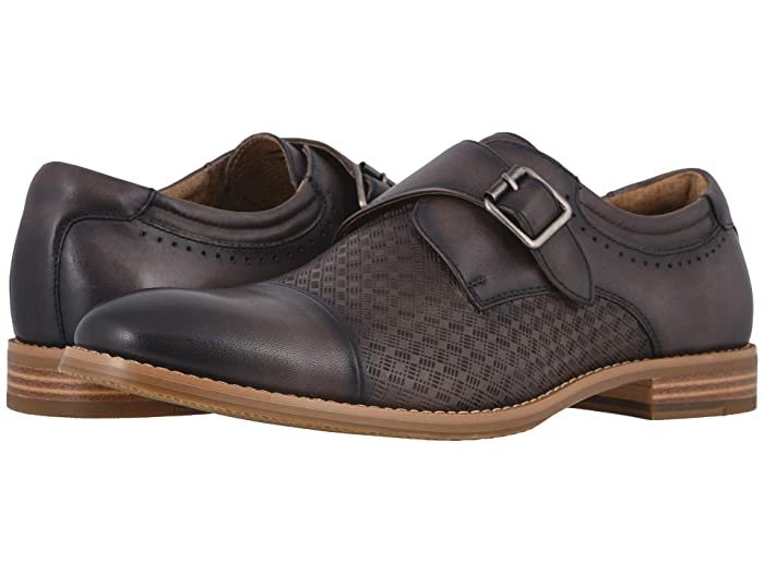 Steampunk Boots & Shoes, Heels & Flats Stacy Adams Fenwick Cap Toe Monk Strap Gray Mens Shoes $104.95 AT vintagedancer.com