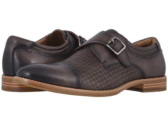 Mens Retro Shoes | Vintage Shoes & Boots Stacy Adams Fenwick Cap Toe Monk Strap Gray Mens Shoes $104.95 AT vintagedancer.com