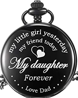 Pangda to My Daughter Gift Pocket Watch - My Little Girl Yesterday, My Friend Today, My Daughter Forever - from a Dad to a...