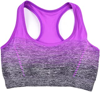 Queenship Racerback Sports Bras - Padded Seamless High Impact Support for Yoga Gym Workout Fitness ga