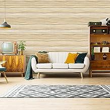ورق جدران لاصق بتصميم خشب صناعي من هوم مي، بلاصق ذاتي حجم 45 × 600 سم مع بلاستيك بي في سي مضاد للماء ومقاوم للزيوت قابل لل...