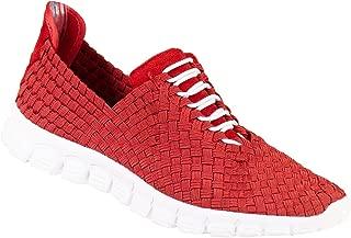 Zee Alexis Women's Danielle EU Woven Athletic Shoe Red White