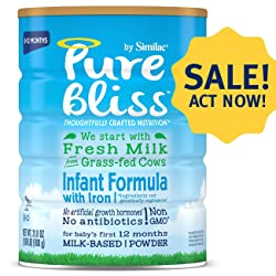 Pure Bliss by Similac Infant Formula, Modeled After Breast Milk, Non-GMO Baby Formula, 31.8 ounces