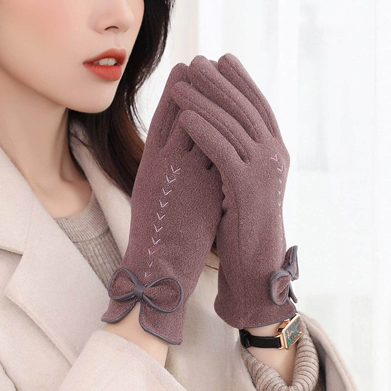 Gloves Winter Gloves Warm Touch Screen Gloves Windproof Gloves Women Girls Winter Use (Color : Purple)