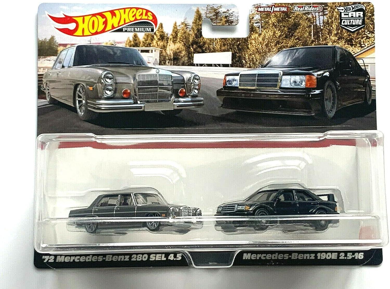 Metal Car Culture '72 Mercedess-Benz 280 Sel 4.5 +190E overseas 2021 autumn and winter new 2.5-16 P