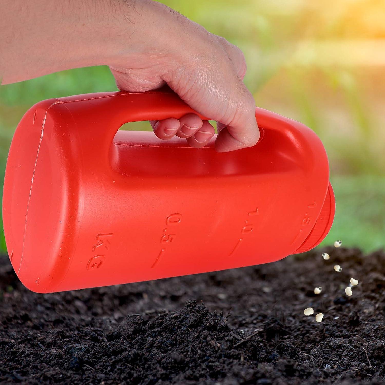 Hemoton Salt and Spreade Adjustable Handheld Spreader Hole Size Fertilizer Hand Spreader Shaker for Salt Ice Melt Blue