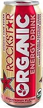 Rockstar Energy Drink Organic, Strawberry, 24 Count