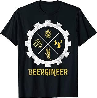 BEERGINEER Beer Brewer Engineer Craft Beer Homebrew IPA Gift T-Shirt