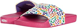 (Rainbow Leopard) True White/Fuchsia Purple