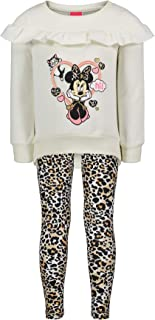 Disney Minnie Mouse Girls Long-Sleeve Fashion Shirt /& Legging Outfit Set 4-6X
