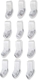 Hanes Ultimate Boys' Durable Cushioned and Reinforced Heel and Toe Crew Socks