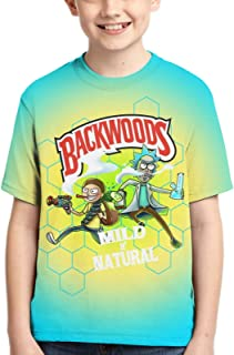 Boys Girls 3D All-Over Printing Novelty Hawaiian Short Sleeve T-Shirts Shirts