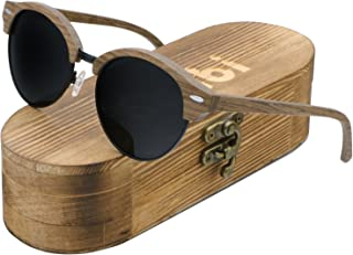 fef37df1a4 Ablibi Semi Rimless Wood Polarized Sunglasses Women Men Brand Designer Wood  Shades