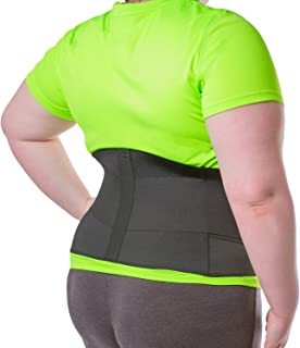 BraceAbility XXXL Plus Size Elastic & Neoprene Compression Back Brace | Lumbar, Waist and Hip Support Belt for Sciatica Nerve Pain, Low Back Pain Relief While Sleeping, Working, Exercising (3XL)