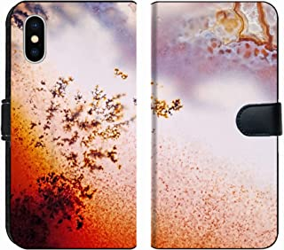 MSD Premium Phone Case Designed for iPhone Xs and iPhone X Flip Fabric Wallet Case Image ID: 24171559 Jewelry and Decorative Stone Moss Agate Macro Raw Rough Plate Ka