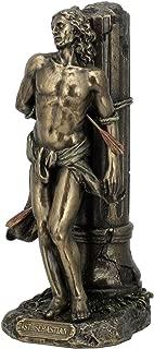 US 8.12 Inch Cold Cast Bronze Color St. Sebastian Figurine Statue Decor