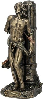 8.12 Inch Cold Cast Bronze Color St. Sebastian Figurine Statue Decor