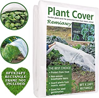 Remiawy Plant Covers Freeze Protection Frost Blankets for Plants-Reusable Frost Cover for Plants Cold Weather Floating Row Cover for Vegetables Insect Protection Season Extension(8FTX24FT)
