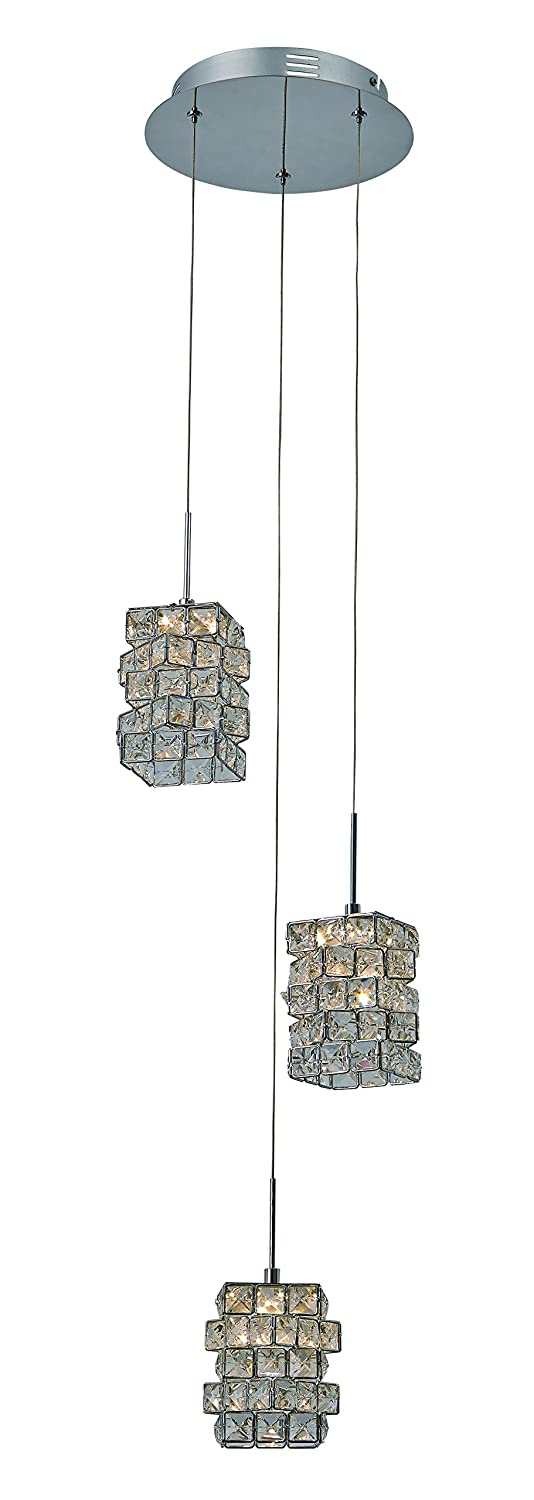 Trans Globe Lighting Small Faceted Crystal Pendant Light by Trans Globe Lighting