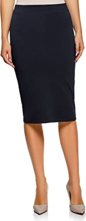 oodji Ultra Mujer Falda Lápiz Básica