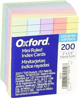 Oxford Mini Ruled Index Cards, Ruled, 3