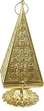 Rosymoment Arabic LED Fanoos Lantern, Gold, 0803-L
