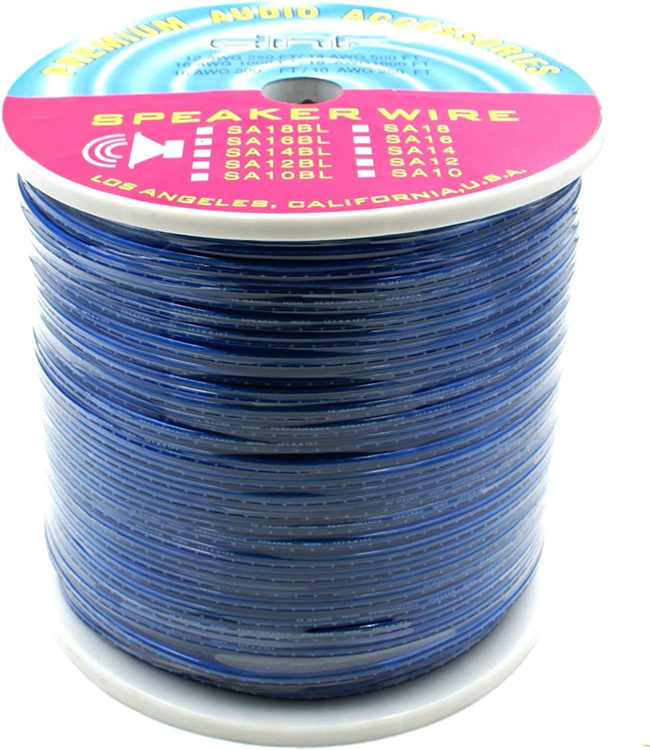 1000 FT Red DNF 16 Gauge Car or Home Speaker Wire