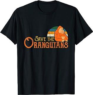 Save The Orangutans Retro Vintage Cool Wildlife T-Shirt