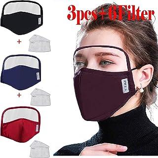 Studio 21 Graphix Cotton Outdoor Haze Dust Face Health Protection Face Macks with Eyes Bandana + 2 Filters (3pcs+6Filter)