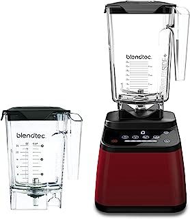 Blendtec Designer 625 Blender - WildSide+ Jar (90 oz) and Mini WildSide+ Jar (46 oz) BUNDLE - Professional-Grade Power - 4 Pre-Programmed Cycles - 6-Speeds - Sleek and Slim - Pomegranate