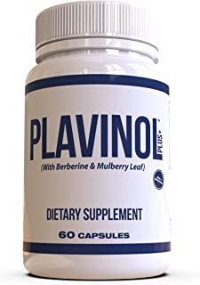 Nexus Formulas - PLAVINOL - Blood Sugar and Cholesterol Control Supplement - 6 Powerful Natural Herbs - Hea...