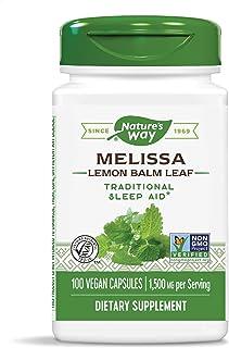 Nature's Way Premium Herbal Melissa Lemon Balm Leaf, 1,500 mg per serving, 100 Capsules