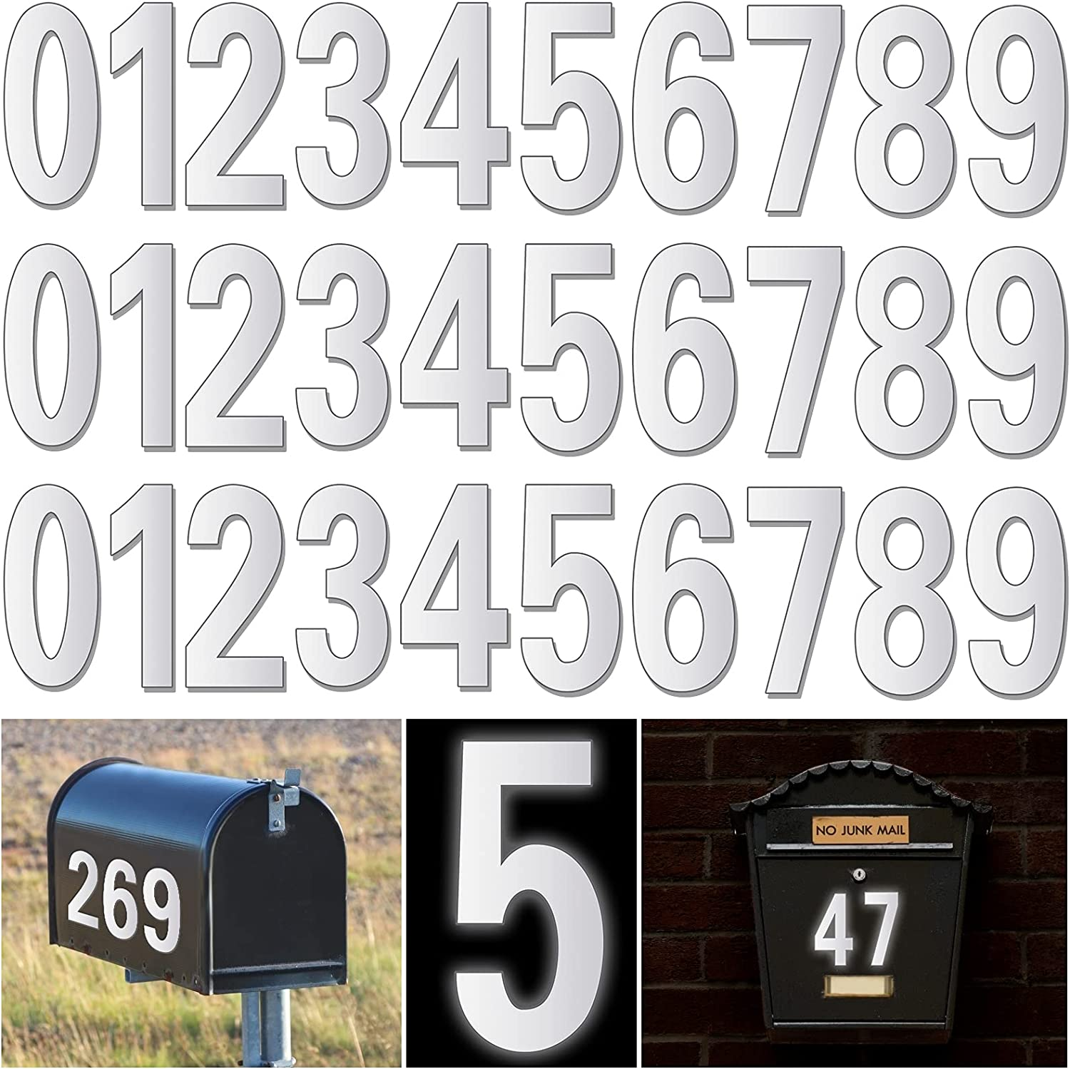 Reflective Mailbox Numbers for Outside - Pcs 30 Reservation Waterproof Mailb Sale