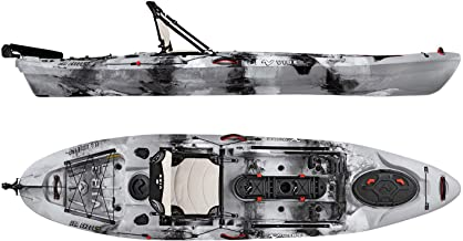 Vibe Kayaks Sea Ghost 110 11 Foot Angler Sit On Top Fishing Kayak with Adjustable Hero Comfort Seat & Transducer Port + Rod Holders + Storage + Rudder System Included