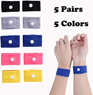 LYJEE Travel Motion Sickness Relief Wristband Acupressure Anti-Nausea Relief Wristband for Sea Car Flying Pregnant Morning Sickness