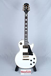 Epiphone Les Paul CUSTOM PRO Electric Guitar with Coil Tapping, Alpine White