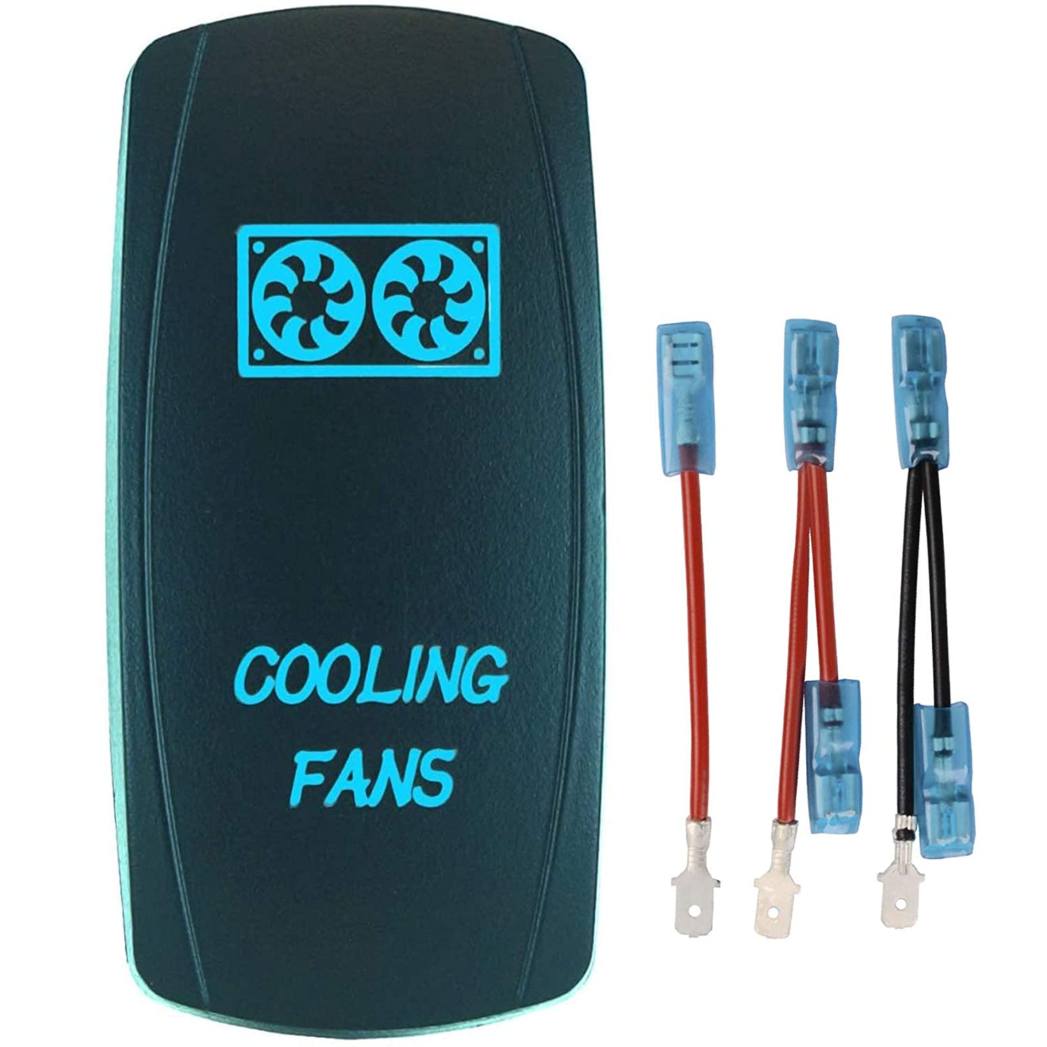 QUNQI STAR 5 pin Laser Backlit FANS Switch Cash special price Rocker 20A COOLING Fixed price for sale 12