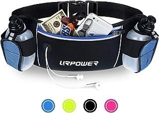 URPOWER Running Belt Multifunctional Zipper Pockets Water Resistant Waist Bag, with 2..